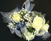White Roses Wristlet in Batavia, Illinois, Batavia Floral in Bloom, Inc