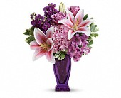 Teleflora's Blushing Violet Bouquet in Watertown NY, Sherwood Florist