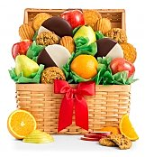 Fresh Fruit and Cookies Basket - by GiftTree Flowers