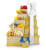 First Choice Gourmet Gift Tower - by GiftTree Flowers