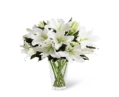 WHITE LILY BOUQUET in Chicago, Illinois, La Salle Flowers
