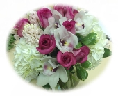Pink Roses and Cymbidiums in Palm Beach Gardens, Florida, Floral Gardens & Gifts
