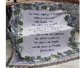 The Lord's Prayer / Grapevine Afghan in Troy, Ohio, Trojan Florist & Gifts