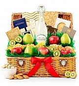 Sweet Celebration Fruit Basket - by GiftTree Flowers