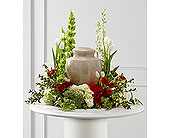 Red and White Sympathy Arrangement in Cocoa, Florida, A Basket Of Love Florist
