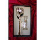 Living Gold Rose in White in Greensboro NC, Send Your Love Florist & Gifts