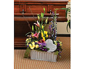 Basket of Fresh Flowers in Dearborn Heights, Michigan, English Gardens
