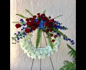 PATRIOTIC TRIBUTE WREATH in The Villages, Florida, The Villages Florist Inc.