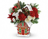 Teleflora's Gingerbread Cookie Jar Bouquet in Bradenton FL, Tropical Interiors Florist