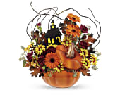 Teleflora's Haunted House Bouquet in Salem MA, Flowers by Darlene/North Shore Fruit Baskets