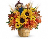 Teleflora's Smiling Scarecrow Bouquet in Edmonton AB, Petals For Less Ltd.