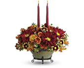 Teleflora's Tuscan Autumn Centerpiece in Edmonton AB, Petals For Less Ltd.