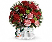 Send a Hug Christmas Cutie by Teleflora in Edwards AFB CA, Petals & Blooms