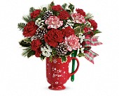 Teleflora's Warm Holiday Wishes Bouquet in Edwards AFB CA, Petals & Blooms
