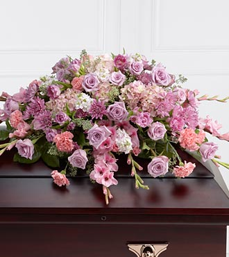 Pastel Casket Spray in Staten Island, New York, Eltingville Florist Inc.