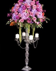 Tall detailed crystal design w/ 4 candles and drop in Staten Island NY, Eltingville Florist Inc.