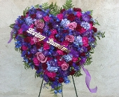 STANDING HEART OF JEWELS by Rubrums in Ossining NY, Rubrums Florist Ltd.