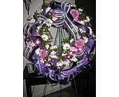 Purple Wreath in Ocala, Florida, Heritage Flowers, Inc.