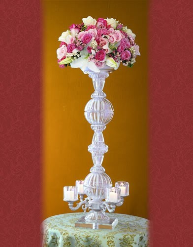 Crystal Candelabra 4 Votive Candles in Staten Island NY, Eltingville Florist Inc.