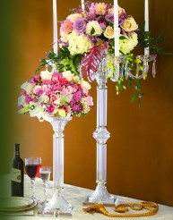 crystal table stand featuring glass arms in Staten Island NY, Eltingville Florist Inc.