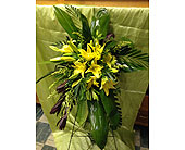 Safari Sunset with Yellow Lilies in Chattanooga, Tennessee, Chattanooga Florist 877-698-3303