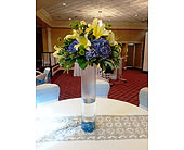 Tall Centerpiece at Safety Harbor Spa in Silvermill Plaza, Florida, Buds, Blooms & Beyond