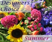 Designers Choice Summer Flower Arrangement in Amherst NY, The Trillium's Courtyard Florist