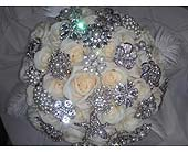 Vendela Roses Bridal Bouquet in Belford, New Jersey, Flower Power Florist & Gifts