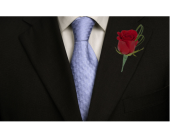 Loopy Red Rose Boutonniere in Dallas TX, In Bloom Flowers, Gifts and More