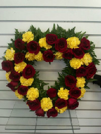 Heart Wreath in Anchorage, Alaska, A Special Touch
