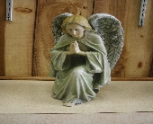 Kneeling to Pray Angel Figurine in Ionia MI, Sid's Flower Shop
