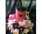 40504 Flowers - Lg. Bridgewater Jar Candle - Bel-Air Florist