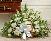 White MixedSympathy Basket in Arizona,, Arizona, Fresh Bloomers Flowers & Gifts, Inc