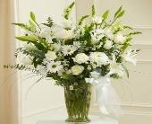 Large White Sympathy Vase Arrangement in Arizona,, Arizona, Fresh Bloomers Flowers & Gifts, Inc