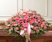 Pink Casket Cover in Arizona,, Arizona, Fresh Bloomers Flowers & Gifts, Inc