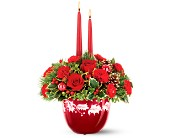 Teleflora's Ruby Glass Bowl Bouquet in Chesterfield SC, Abbey's Flowers & Gifts