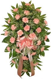 Timeless Traditions Pink Standing Spray in Indianapolis IN, Steve's Flowers and Gifts