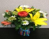 Pencil vase arrangement