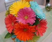 GERBERA BRIDAL BOUQUET in Flushing, Michigan, Flushing Florist & Greenhouse