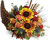 Thanksgiving Cornucopia in Cocoa FL, A Basket Of Love Florist
