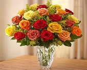 Premiun Fall roses in Marquis by Waterford in Los Angeles CA, 1-800 Flowers Conroys