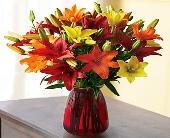 Austin Flowers - Autumn Lily Bouquet - Heart & Home Flowers