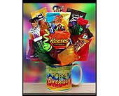 Happy Birthday Candy Mug in Ammon ID, Petal Passion