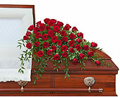 Simply Roses Supreme Casket Spray in Prospect KY, Country Garden Florist