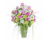 Pink and White Elegance Vase in Sault Ste Marie MI, CO-ED Flowers & Gifts Inc.