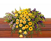 Vivid Memories Casket Spray in Prospect KY, Country Garden Florist
