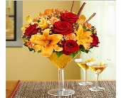 Martini Bouquet Pumpkin Spice in Corning NY, House Of Flowers