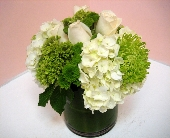 White Rose and Hydrangea in San Francisco CA, Fillmore Florist