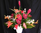 MTF625 Tropical Fan Style Arrangement in Mililani Town HI, Mililani Town Florist