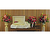 Fireside Half Couch Premium Collection in Richboro, Pennsylvania, Fireside Flowers